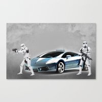 lamborghini Canvas Prints featuring Lamborghini Troopers by Vin Zzep