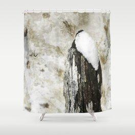 Worn Fence Post Shower Curtain