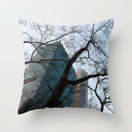 Bryant Park Winter Throw Pillow