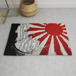 Japanese Palace and Sun Rug