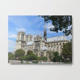 Notre Dame de Paris South Façade Metal Print