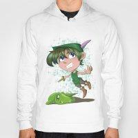 peter pan Hoodies featuring Peter Pan by EY Cartoons