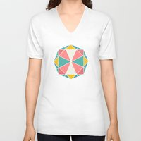 polygon V-neck T-shirts featuring Polygon by Juste Pixx Designs