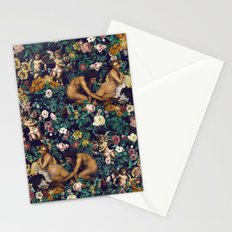 Young Greeks and Floral Pattern Stationery Cards
