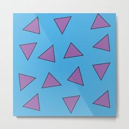 Rocko's Triangles Metal Print