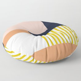 Sol Abstract Geometric Print in Multi Floor Pillow