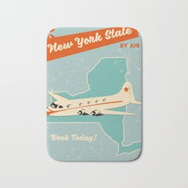 New York State vintage travel poster Bath Mat