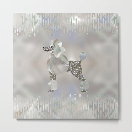 Luxury Pearl and Abalone Poodle Metal Print