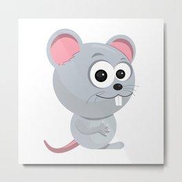 Cartoon Rat Metal Print