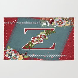 Country Charm Monogramed Z Rug