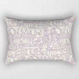 Ancient Greece purple pearl Rectangular Pillow