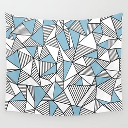 Abstraction Lines Sky Blue Wall Tapestry