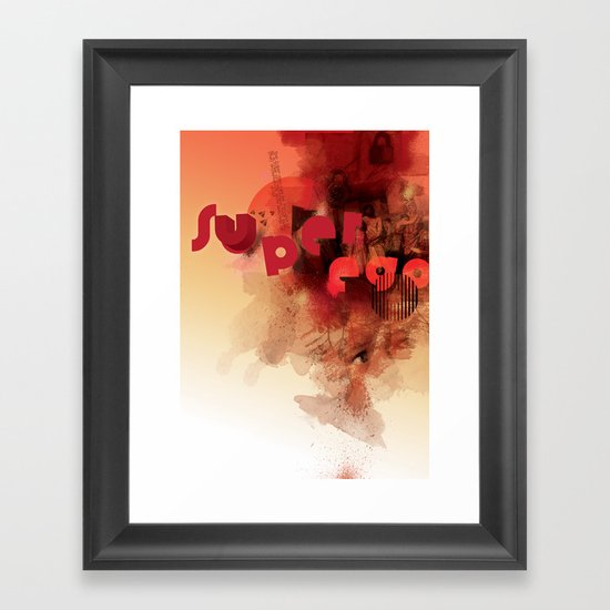 freud's superego Framed Art Print