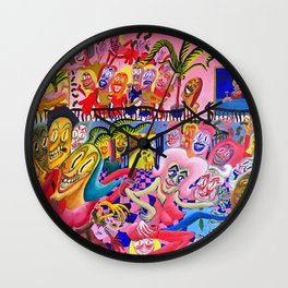 Tango in the Night Wall Clock