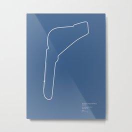 F1 Circuit Infographic- Autodromo Nazionale Monza, Italy Metal Print