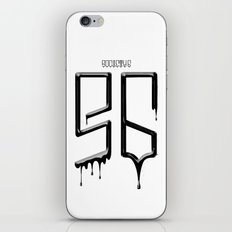 S6 TEE BLACK PAINT iPhone & iPod Skin