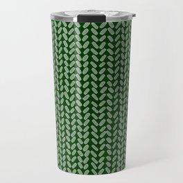 Forest Green Knit Travel Mug