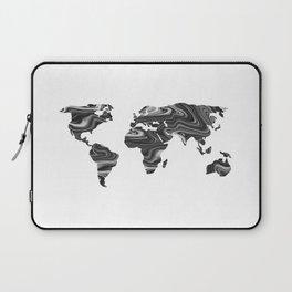 Marble World Map II Laptop Sleeve