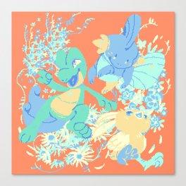 Hoenn starters Canvas Print