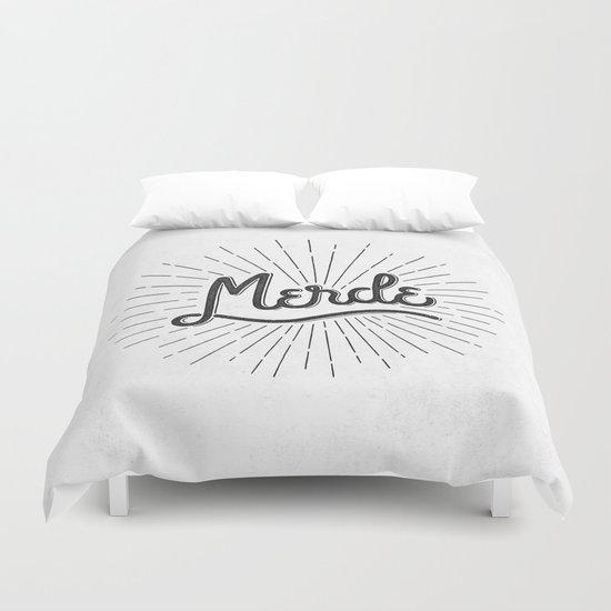 MERDE - BLANC Duvet Cover
