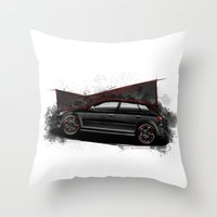 audi Throw Pillows featuring RS3 by an.artwrok