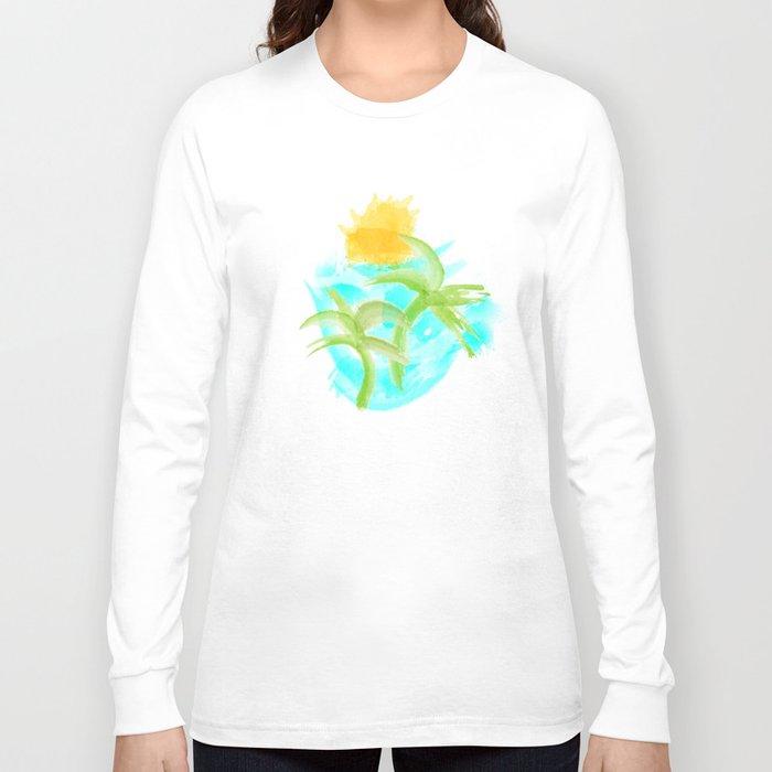 Tropical Abstract Long Sleeve T-shirt
