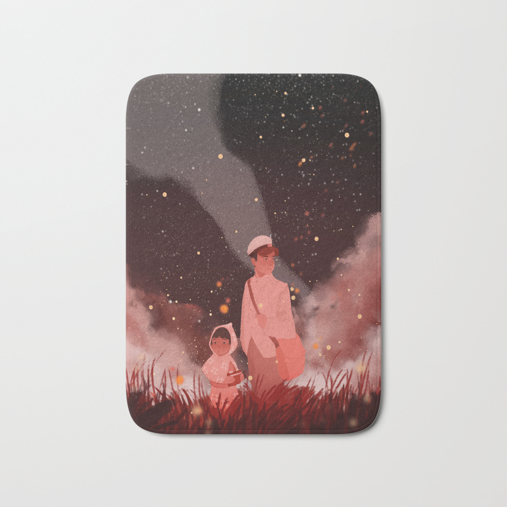 Grave Of The Fireflies Bath Mat by Violettobacco BMT8960522