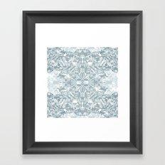Lace Geometric // Kaleidoscope of blues Framed Art Print