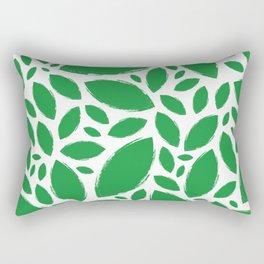 Painted Tree Leaves V1 - Green Rectangular Pillow