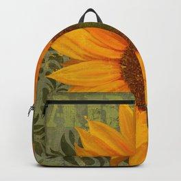 Sunflower Garden II floral art Backpack