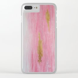 Pink Dreams Clear iPhone Case