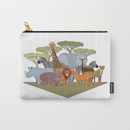 African Animals Festival Carry-All Pouch