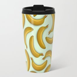 Fruit pattern. Background from bananas with realistic shadows Travel Mug