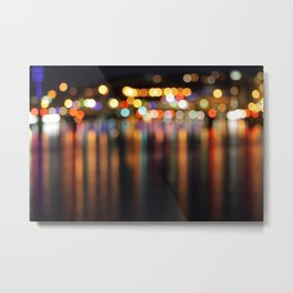 Bokeh City Night Lights Metal Print