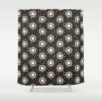 sewing Shower Curtains featuring sewing pins by kociara