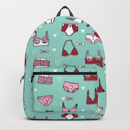 undies hand drawn andrea lauren pattern underwear lingerie Backpack