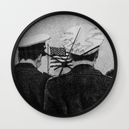 Standing at Attention Wall Clock