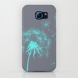 Gray and Teal Dandelion iPhone Case