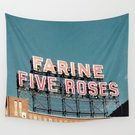Farine Five Roses Wall Tapestry