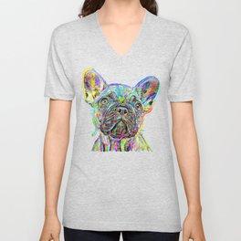 French Bulldog Painting Unisex V-Neck