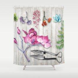Botanica Plants and Flowers II Shower Curtain