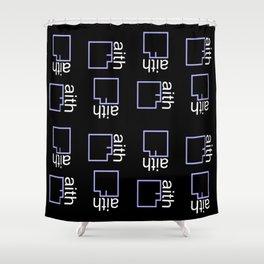 By Faith (purple) Shower Curtain