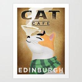 Cat Cat Caffee Art Print