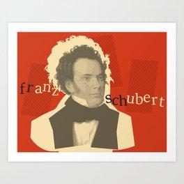 Franz Schubert Art Print