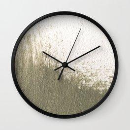 Green stroke  Wall Clock