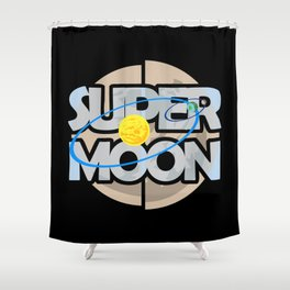 Super Moon Diagram Shower Curtain