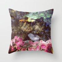 cincinnati Throw Pillows featuring Koi of Cincinnati by Megan Braaten