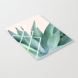 Agave geometrics - peach Notebook