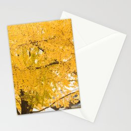 Ginkgo Biloba Tree - Gyeongbokgung Palace, Seoul, Korea Stationery Cards