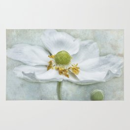Anemone with Textured Background Rug